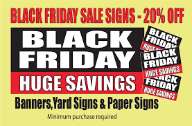 black friday sale signs goal charts big checks banners yard signs decals by same day sign