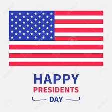 American Flag Design American Flag Presidents Day Background Flat Design Card Isolated