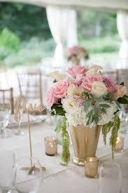 White Flower Arrangements Pink And White Flower Arrangements In Gold Vases