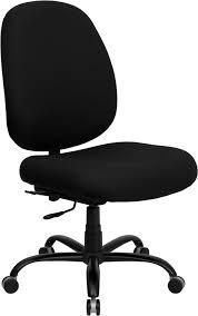 Signature Series 400 lb Capacity Big and Tall Black Fabric Office