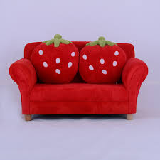 kids toddlers sofa lounge couch strawberry double seat children