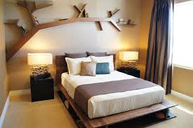 Brown Bedroom Ideas by Bedroom Contemporary Brown Wood Wall Shelves For Bedroom With