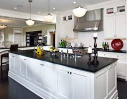 slate countertop nice kitchen with white cabinets and black slate countertops