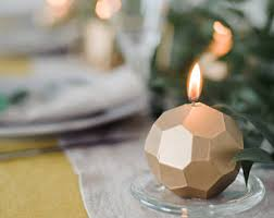 holiday candle faceted handmade candle modern home decor