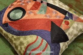 Orange Sofa Throw Kandinsky Modern Throw Pillows Composition Orange Cushion Cover