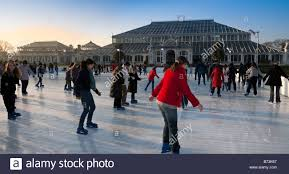 kew gardens skating rink stock photo royalty free image 21593887
