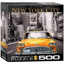 new jigsaw puzzle 500 piece eurographics new york city yellow taxi