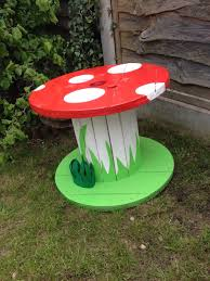 Kids Patio Table by Garden Ornaments Mushroom Table Upcycled Cable Reel Drum