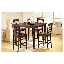 5 piece coral dining table set wood brown steve silver company
