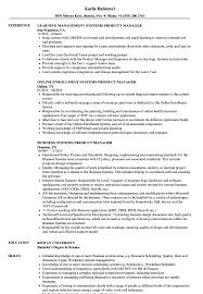 Product Manager Resume Sample Systems Product Manager Resume Samples Velvet Jobs