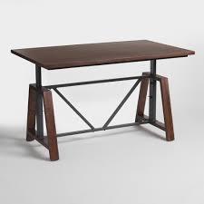 Height Adjustable Desk Diy by Wood Braylen Adjustable Height Work Table World Market