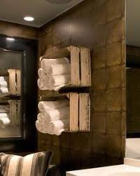 old crates as towel storage handy tips pinterest towel