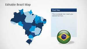 Map States by Editable Brazil Map Template For Powerpoint Slidemodel