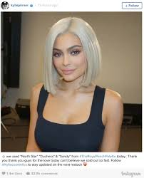 platinum blonde bob hairstyles pictures kylie jenner has a new platinum blonde bob making it 13 total