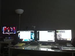 pc setup ideas computer setup u2014 0002 modern man cave