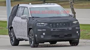 new jeep wagoneer concept jeep three row suv caught on public roads grand wagoneer perhaps