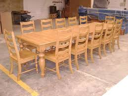 Hand Made Pine Dining Table And Ladder Back Chairs By Philip - Pine dining room sets
