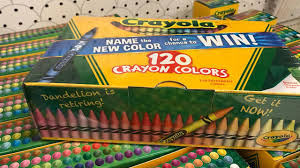 retirement announcement crayola retires crayon for time dandelion is out