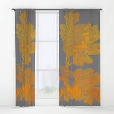 Leaf Design Curtains Acorn Window Curtains Society6
