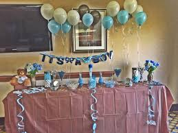 table set up candy bar it u0027s a boy baby blue white and brown