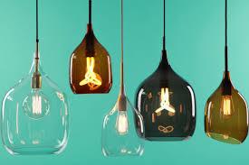 Glass Blown Pendant Lights Pendant Lamp Contemporary Glass Blown Glass Vessel P F By