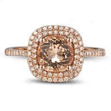 morganite gold engagement ring 2ct halo morganite diamond gold engagement ring for