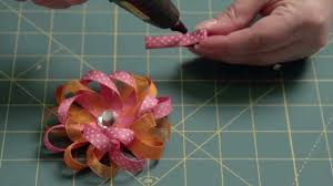 flower bow how to make a loop flower hair bow