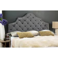 Upholstered Headboard King Bedroom Enchanting Bed Design Ideas With Silver Headboard