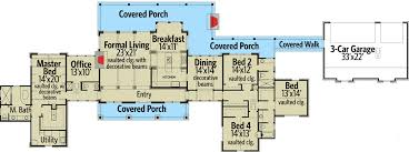 country home floor plans hill country home with porch 46041hc architectural