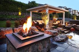 Outdoor Covered Patio by Patio Designs With Pergola And Firepit Patio Decoration