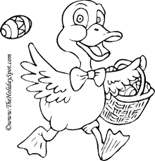 easter coloring page print and color