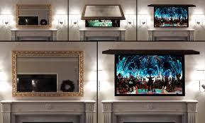 hide tv hideaway solutions hidden with art or behind framed mirror