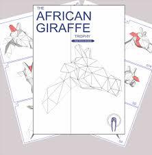 halloween printable crafts diy giraffe mask template low poly giraffe trophy head template