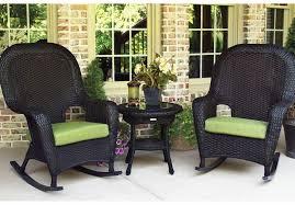 Desig For Black Wicker Patio Furniture Ideas Black Wicker Outdoor Furniture Rocking Chairs Home Design Ideas