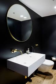 Black Modern Bathroom This Apartment Is Filled With A Palette Of Black And Gold