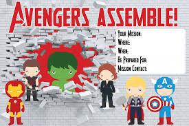 avengers birthday invitation templates disneyforever hd