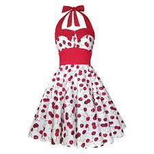 rockabilly dress white red cherry dress pin up dress plus size