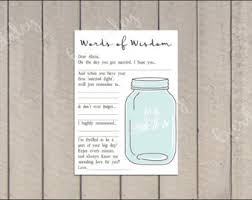 bridal shower words of wisdom cards words of wisdom box etsy