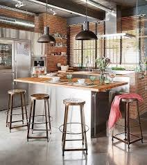 how to create an industrial themed kitchen space