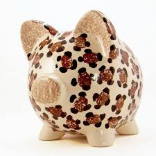Monogrammed Piggy Bank Leopard Piggy Bank Personalized Piggy Bank Cheetah Piggy