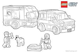 coloring page for van lego city coloring pages van caravan free printable coloring pages