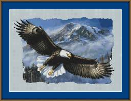 171 best eagles images on embroidery cross stitch