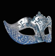 blue masquerade masks masquerade mask for a woman stella blue silver