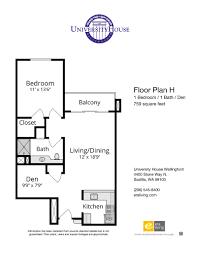 floor plans features university house wallingford seattle wa one bedroom den options