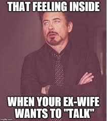 Ex Wife Meme - face you make robert downey jr meme imgflip