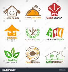 restaurant home kitchen logo vector set stock vector 437694085