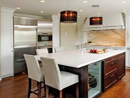 kitchen island with oven modern auburn wooden kitchen island with leather seating squash