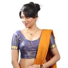 style blouse buy blue silk stitched blouse with paithani border with