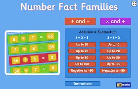 number fact families new number fact families maths the topmarks