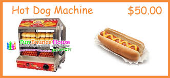 hot dog machine rental concession machine rentals in coral springs bounce house